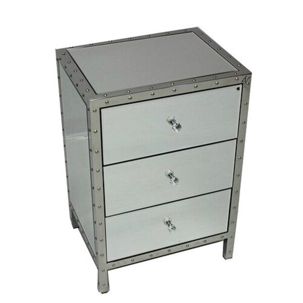 Ezell 3 Drawer Nightstand by Rosdorf Park