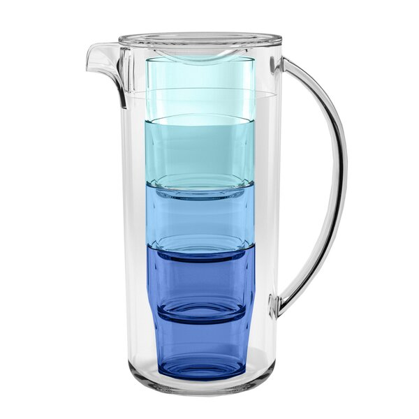 Mcafee Simple Stacked Nested 91 oz. Pitcher by Ebern Designs