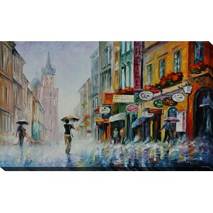 Summer Downpour by Leonid Afremov Painting Print on Wrapped Canvas by Picture Perfect International