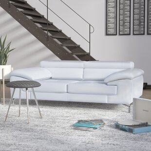 Off White Leather Sofa Set | Wayfair