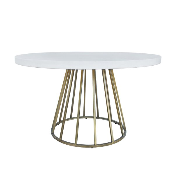 Woodville Concrete Dining Table by Everly Quinn