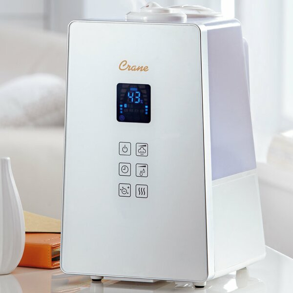 Crane USA 1.2 Gal. Cool and Warm Mist Ultrasonic Console Humidifier by Crane USA