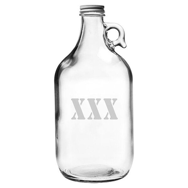 Moonshine Glass Growler with Lid by Susquehanna Glass