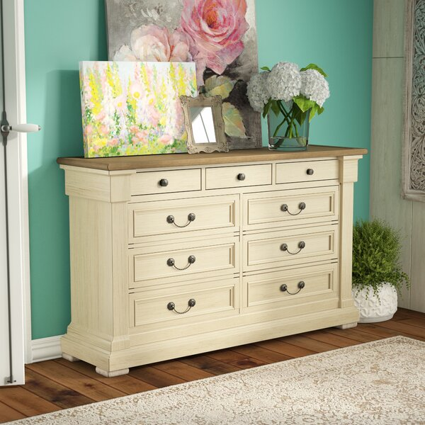 Marsha 9 Drawer Dresser by Three Posts