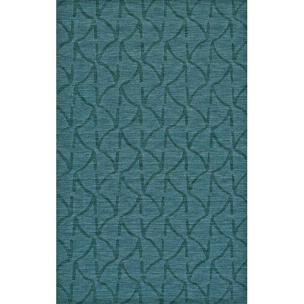 Murray Hand Woven Wool Teal Area Rug by Brayden Studio