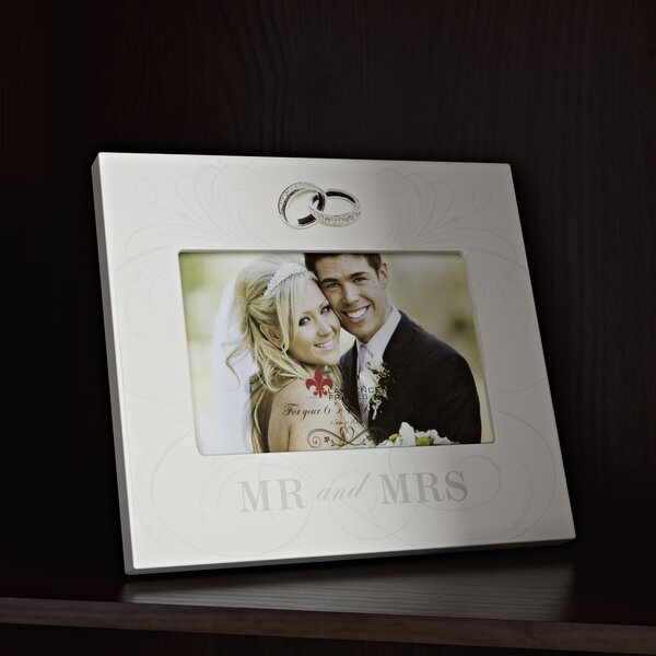 Ealey Mr. And Mrs. Wedding Picture Frame by Red Barrel Studio