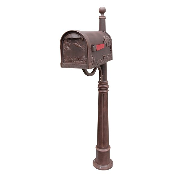 Hummingbird Mailbox with Post Included by Special Lite Products
