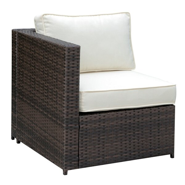 Middleburg Faux Rattan Right Arm Patio Chair with Cushions by Ivy Bronx