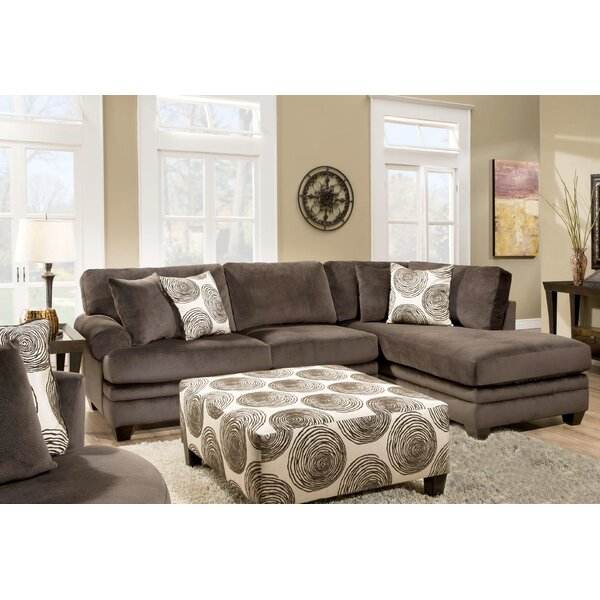 Lowest Priced Melia-Teevan Right Hand Facing Sectional with Ottoman by Red Barrel Studio by Red Barrel Studio