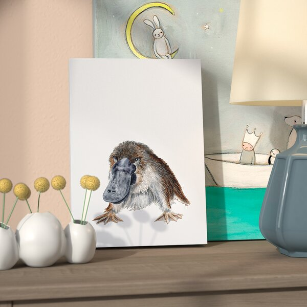 Gage Platypus Portrait Canvas Wall Art by Harriet Bee