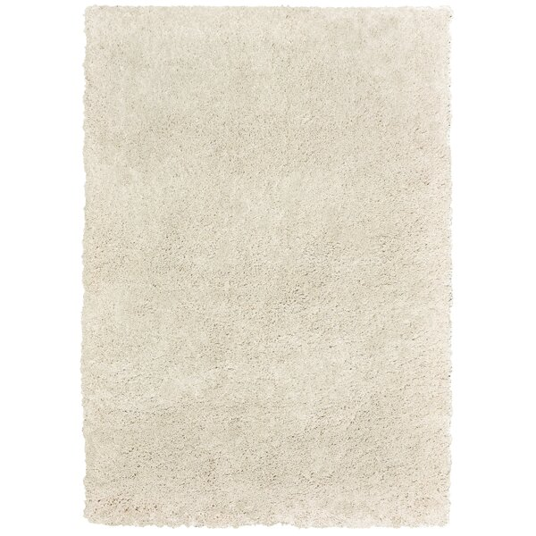 Seward Shag Hand Tufted Cream Area Rug by Gracie Oaks