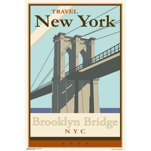 'Brooklyn Bridge' Graphic Art Print Poster by East Urban Home
