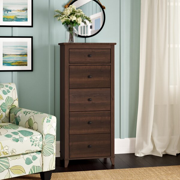 Sanmiguel Vertical 5 Drawer Chest by Beachcrest Home