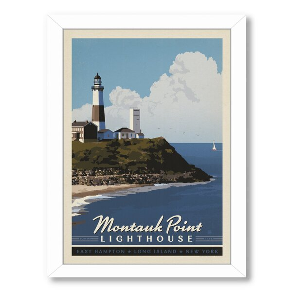 Montauk Long Island Framed Vintage Advertisement by Breakwater Bay