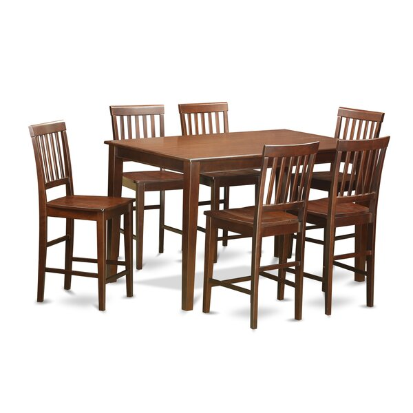 Stilwell 7 Piece Counter Height Dining Set by Charlton Home Charlton Home