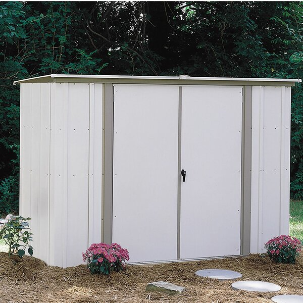 8 ft. 3 in. W x 3 ft. 3 in. D Metal Storage Shed by Arrow