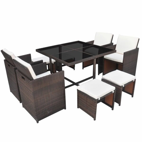Rosato 9 Piece Dining Set with Cushions by Brayden Studio