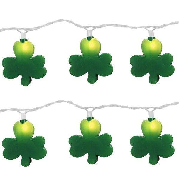 10 Light St. Patrick Clover String Light (Set of 2) by Brite Star