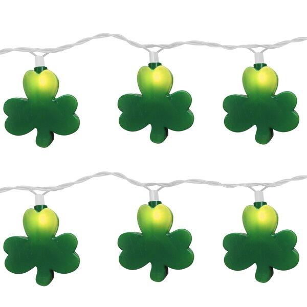 10 Light St. Patrick Clover String Light (Set of 2) by Brite Star