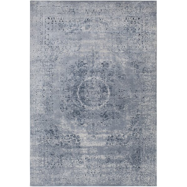 Pickney Distressed Gray/Khaki Area Rug by One Allium Way