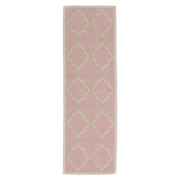 Bernadette Nature Cotton Pink Area Rug by Viv + Rae