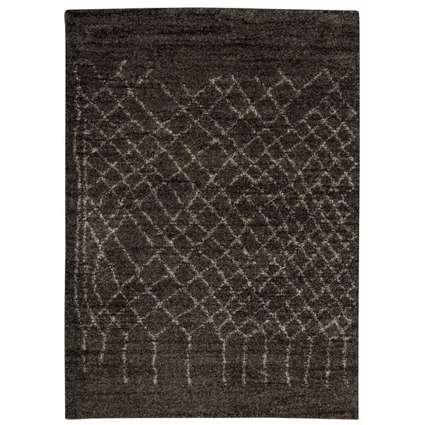 Strassen Charcoal Area Rug by Bungalow Rose