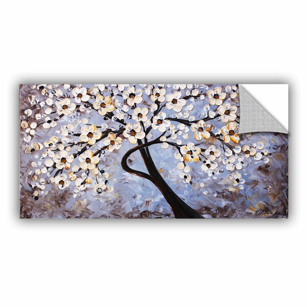 Borella Cherry Blossoms Wall Mural by World Menagerie