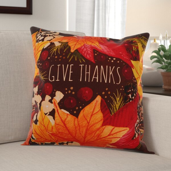 Eunice Thanks Cotton Throw Pillow by The Holiday Aisle