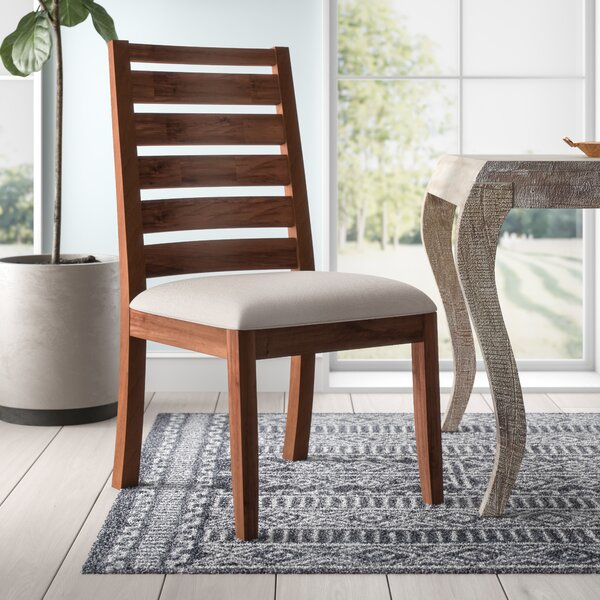 Trevion Ladderback Upholstered Side Chair (Set of 2) by Mistana