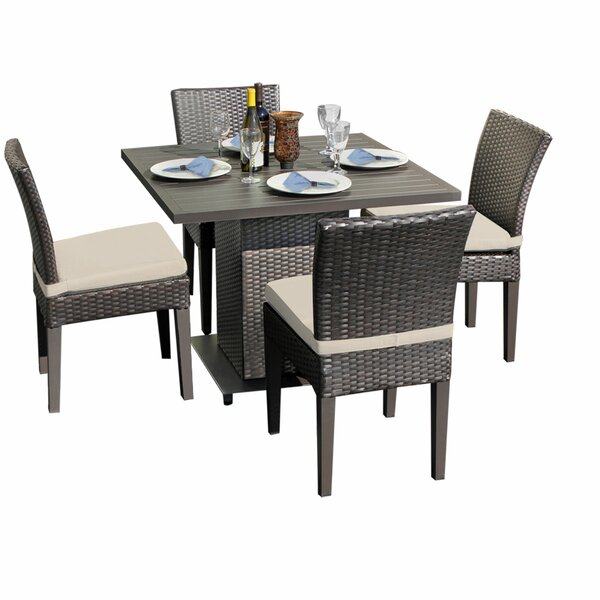 Camak 5 Piece Dining Set with Cushions by Sol 72 Outdoor