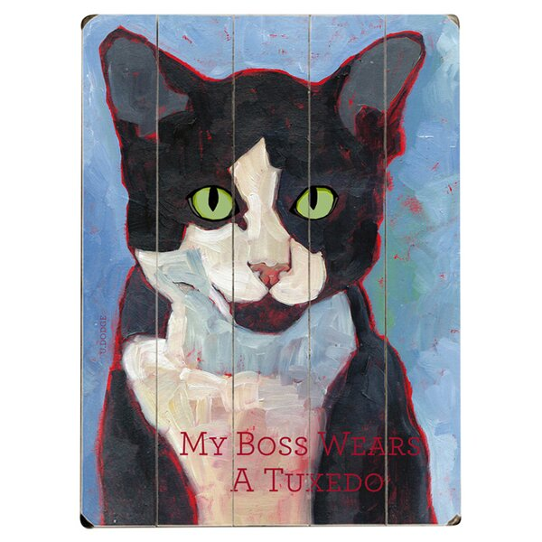 My Boss Wears a Tux Graphic Art Print Multi-Piece Image on Wood by Artehouse LLC