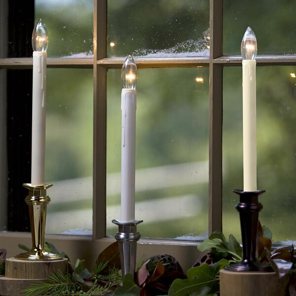 Traditional Adjustable Window Candle Light with Auto Timer by Wind & Weather