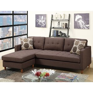 Mendosia Reversible Sectional  sc 1 st  Wayfair : brown leather sofa sectional - Sectionals, Sofas & Couches