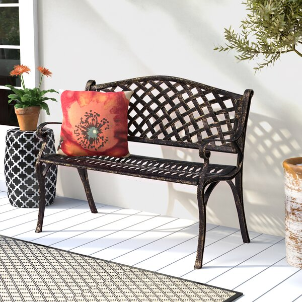 Huang Lattice Metal Garden Bench by Charlton Home Charlton Home