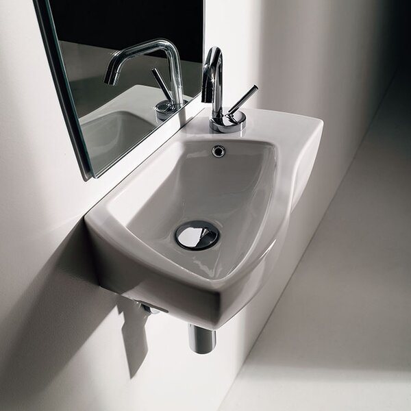 Wave Ceramic Ceramic Specialty Vessel Bathroom Sink with Overflow by WS Bath Collections
