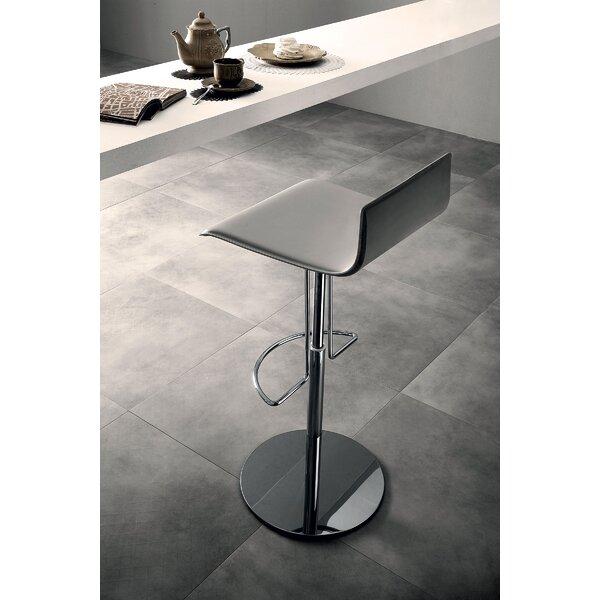 Prato Adjustable Height Bar Stool by Modloft Black