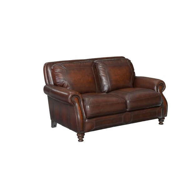 Karlson Leather Loveseat by Greyleigh