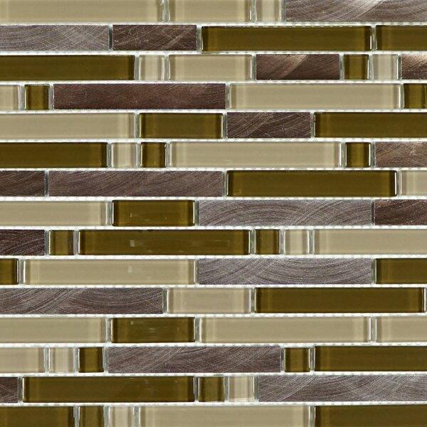 Random Sized Metal Mosaic Tile in Brown/Beige by Multile