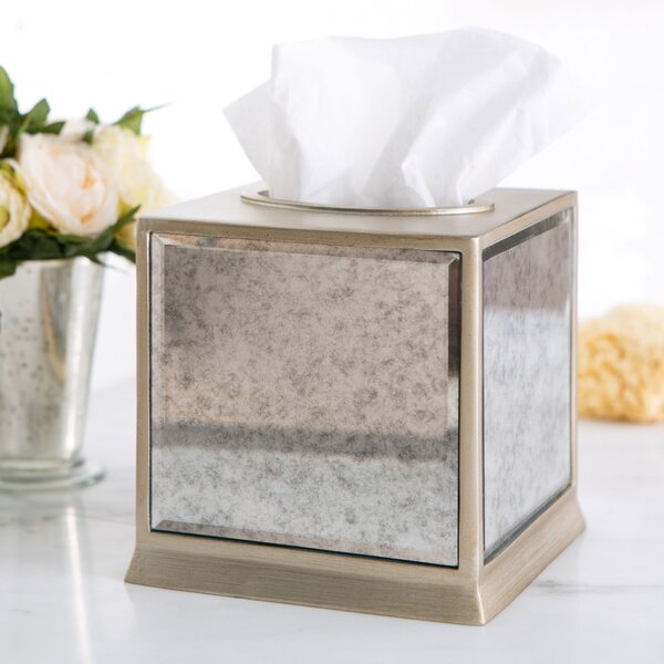 Distressed Glass Tissue Box Cover by Birch Lane™