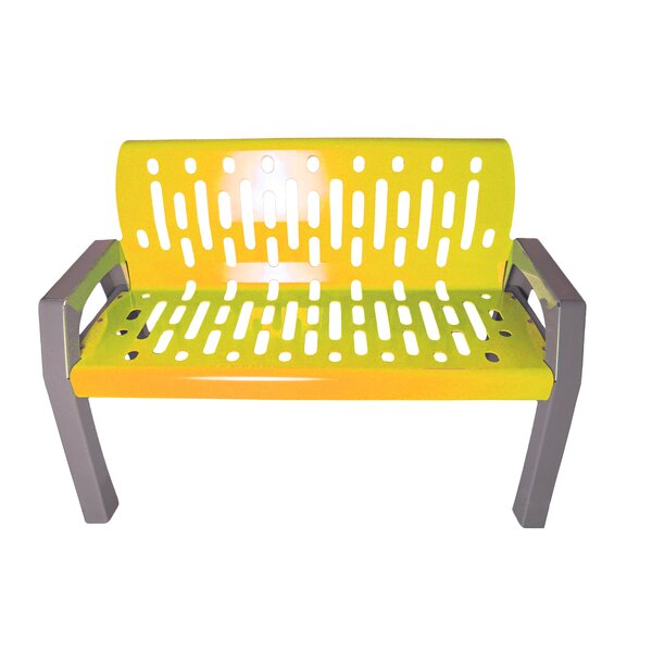 Stream Steel Park Bench by Frost ProductsStream Steel Park Bench by Frost Products