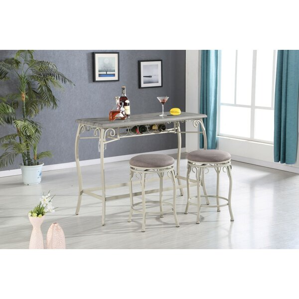 Brookeville 3 Piece Counter Height Dining Set by Ophelia & Co.