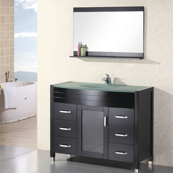 Remi 48 Single Bathroom Vanity Set with Mirror by Home Loft Concepts