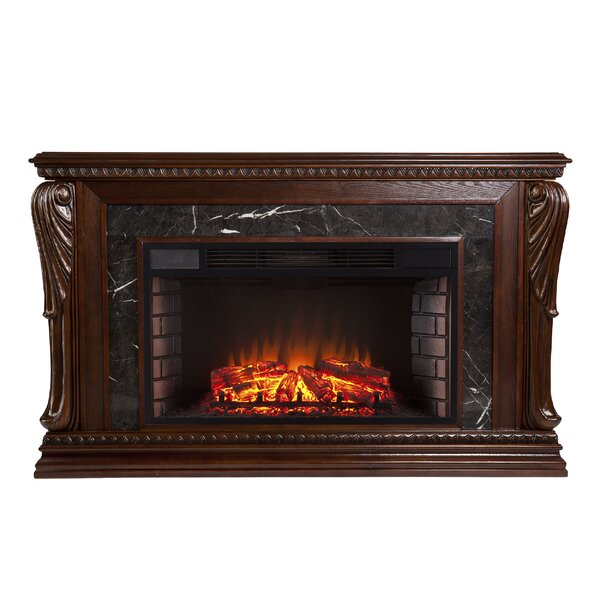 Ornelas Bolder Creek Carved Widescreen Electric Fireplace by Astoria Grand
