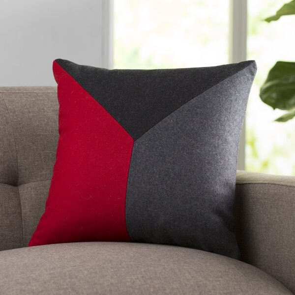 Snyder Wool Throw Pillow by Langley Street
