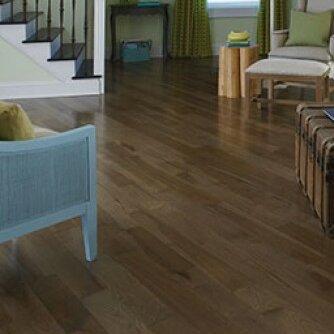 Specialty 5 Solid Hickory Hardwood Flooring in Moonlight by Somerset Floors