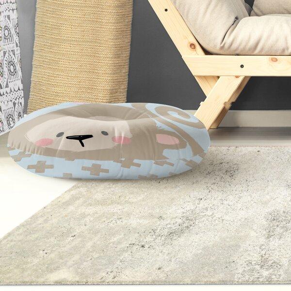 Alsace Monkey Floor Pillow by Harriet Bee