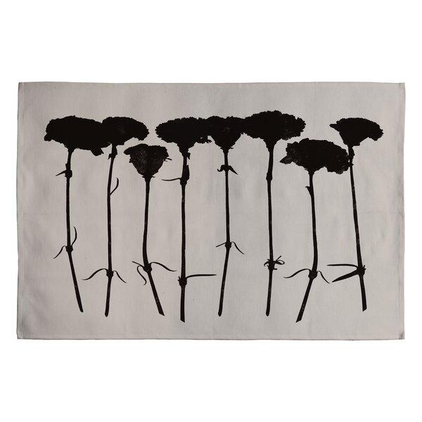 Garima Dhawan Black Carnations Novelty Rug by Deny Designs