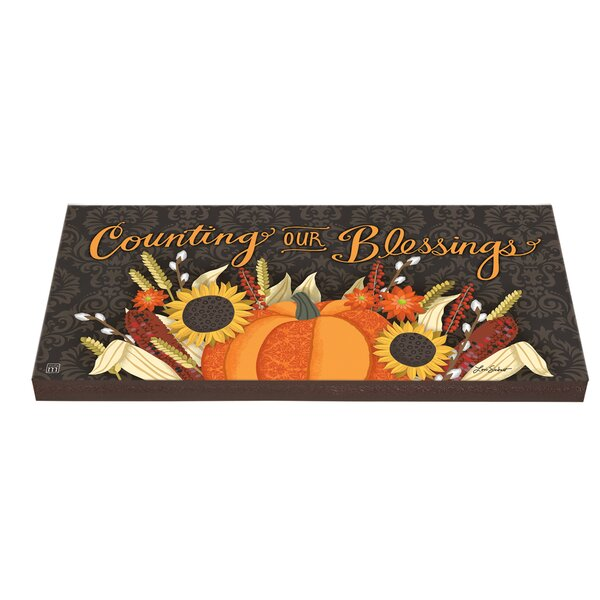Counting Blessings Art Paver Stepping Stone by Studio M