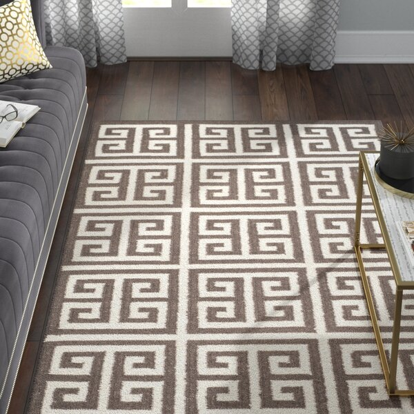 Romero Hand-Woven Brown/Ivory Area Rug by Willa Arlo Interiors