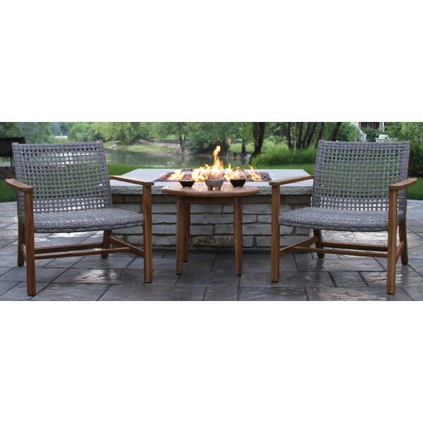 Tibbitts Teak 3 Piece Seating Group by Mistana
